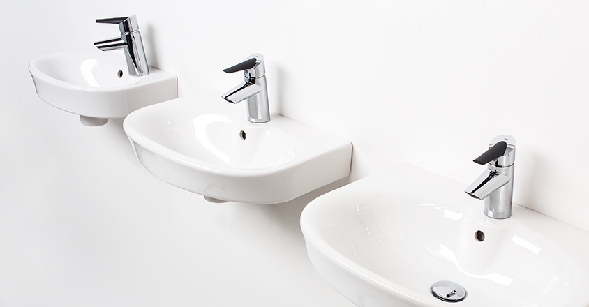 Different size washbasin