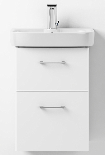 Glow set handrinse basin and cabinet, with two drawers - Porsgrund